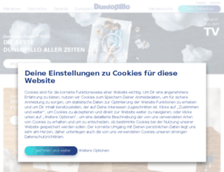 dunlopillo.com screenshot