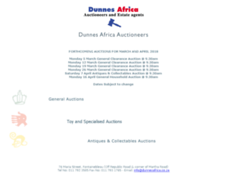 dunnesafrica.co.za screenshot