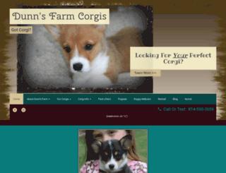 dunnsfarmcorgis.com screenshot