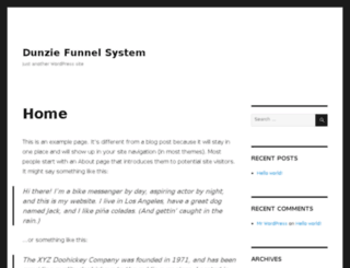dunzie.com screenshot