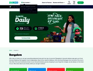 dunzo.in screenshot