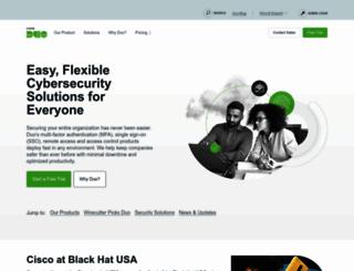 duosecurity.com screenshot