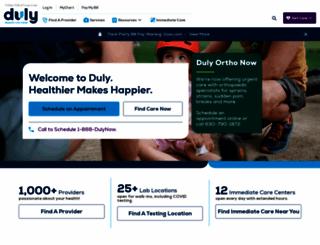 dupagemedicalgroup.com screenshot