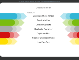 duplicate.co.in screenshot
