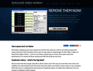 duplicatevideosearch.com screenshot