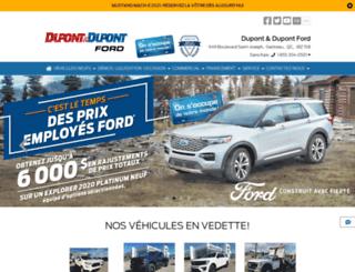 dupontdupontfordlincoln.com screenshot