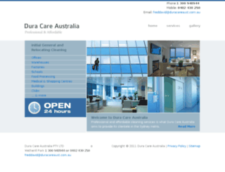 duracareaust.com.au screenshot