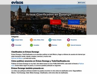 durango.evisos.com.mx screenshot