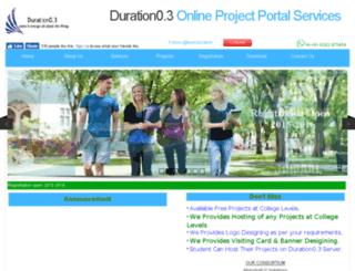 durationzeropoint3.org screenshot