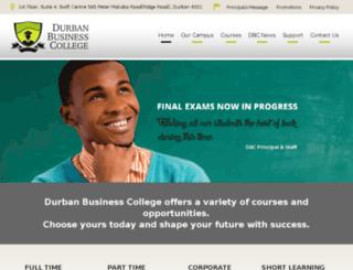 durbanbusinesscollege.com screenshot