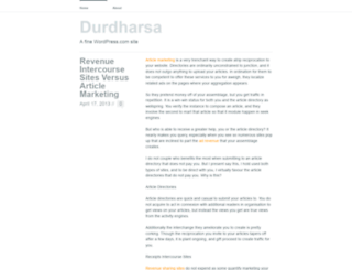 durdharsa.wordpress.com screenshot