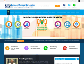 durgapurmunicipalcorporation.org screenshot