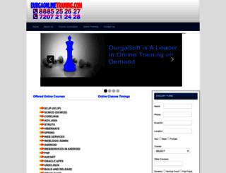 durgasoftonlinetraining.com screenshot