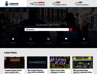 durham.police.uk screenshot