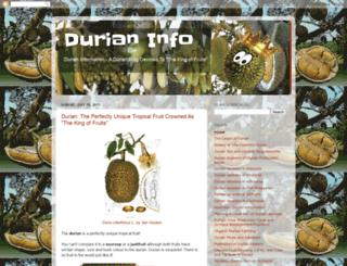 durianinfo.blogspot.com screenshot