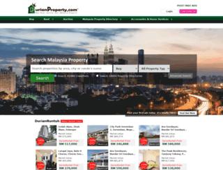 durianproperty.com screenshot
