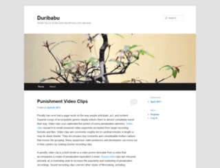 duribabu.wordpress.com screenshot