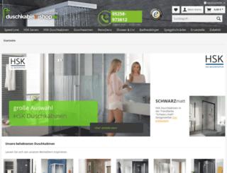 duschkabine-shop.de screenshot