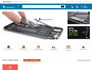 dutasparepart.com screenshot
