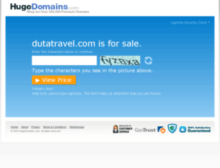 dutatravel.com screenshot