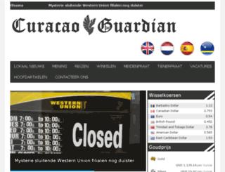 dutch.curacaoguardian.com screenshot
