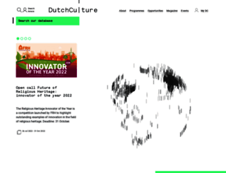 dutchculture.nl screenshot