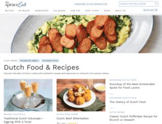 dutchfood.about.com screenshot