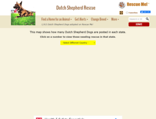 dutchshepherd.rescueme.org screenshot