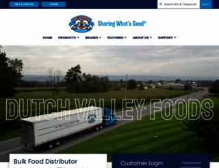 dutchvalleyfoods.com screenshot