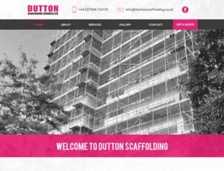 duttonscaffolding.co.uk screenshot