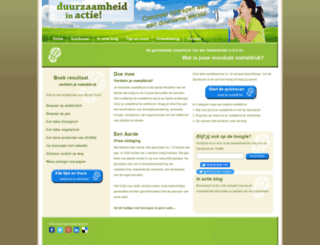 duurzaamheidinactie.nl screenshot