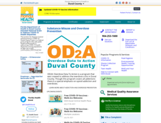 duval.floridahealth.gov screenshot