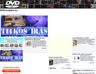 dvdrendeles.hu screenshot