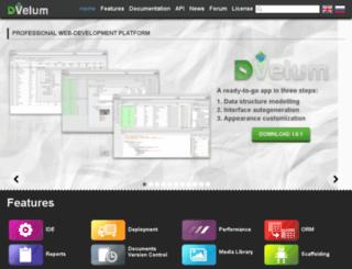 dvelum.com screenshot