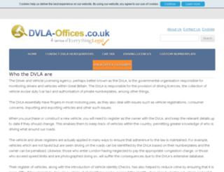 dvla-offices.co.uk screenshot