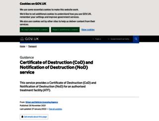 dvlaonline.dft.gov.uk screenshot