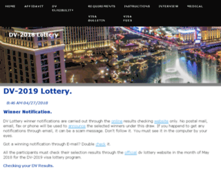dvlottery-2018.com screenshot