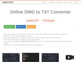 dwg2txt.com screenshot