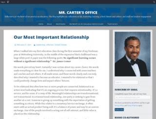 dwightcarter.edublogs.org screenshot