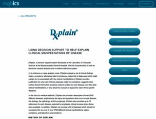 dxplain.org screenshot