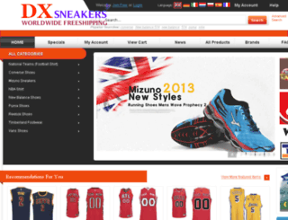 dxsneakers.com screenshot