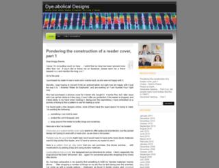 dyeabolical.wordpress.com screenshot