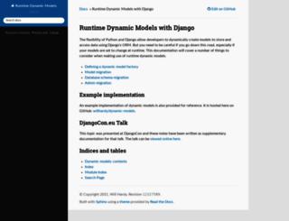 dynamic-models.readthedocs.org screenshot