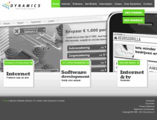 dynamics.nl screenshot