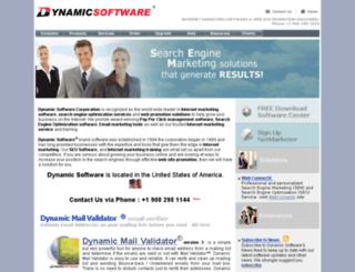 dynamicsoftware.com screenshot