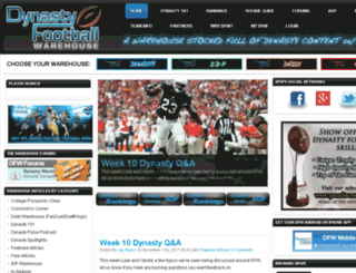 dynastyfootballwarehouse.com screenshot