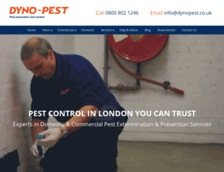 dynopest.co.uk screenshot