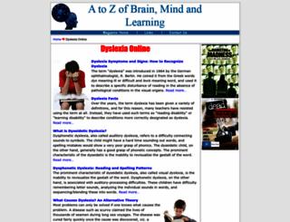 dyslexia.learninginfo.org screenshot