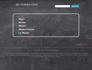 dz-meteo.com screenshot