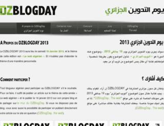 dzblogday.org screenshot